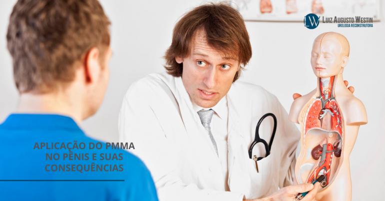 Médico conversando com paciente | Aplicação do PMMA no pênis e suas consequências